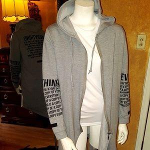 Jackets & Blazers - long shirt tunik cardigan top with zipper size XL